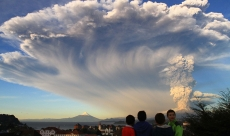Chilean Volcano erupts on Earth Day !